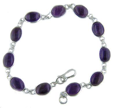 925 sterling silver cab stone bracelet