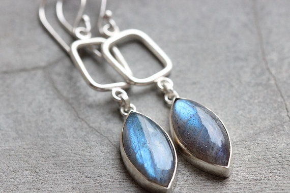 Amazing FIRE NATURAL LABRADORITE Gemstone Earrings Birthstone Earrings Fashion Beach Earrings Handmade Earrings Dangle Earrings