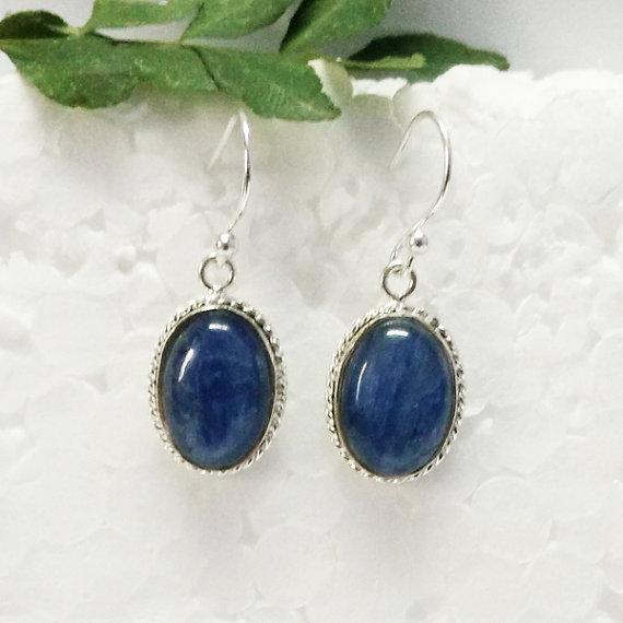 Amazing NATURAL KYNITE Gemstone Earrings, Birthstone Earrings, 925 Sterling Silver Earrings, Fashion Handmade Earrings, Dangle Earrings