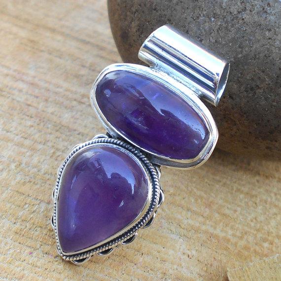 Amethyst Pendant - Gemstone Pendant, Fine Silver Pendant, Best Selling Pendant, Handmade Pendant Jewelry, Designer Pendant Jewelry
