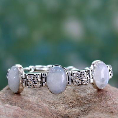 Artisan Crafted Moonstone Sterling Silver Bracelet