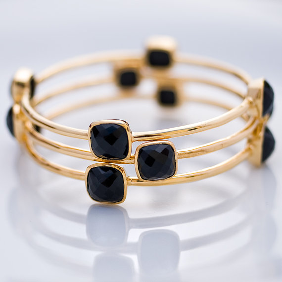 Bezel Black Onyx bracelets