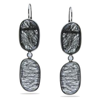 Black Rutile earrings