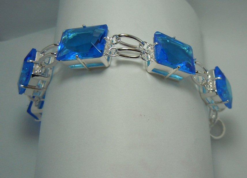 Blue quartz silver Bracelet
