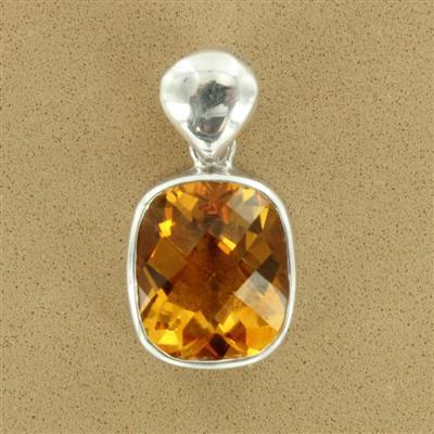 Citrine Silver pendant