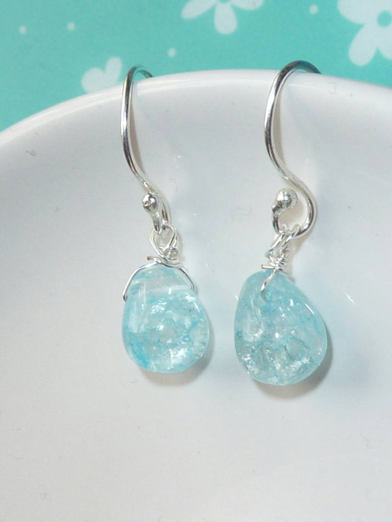 Clear Quartz Drop, Earrings, Bridal Earrings, Bridesmaids Jewelry, Crystal Earrings, Gemstone Earrings, Wedding Jewelry, Bridal Jewelry
