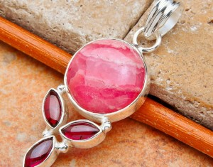 Crystal Gemstone Silver pendant