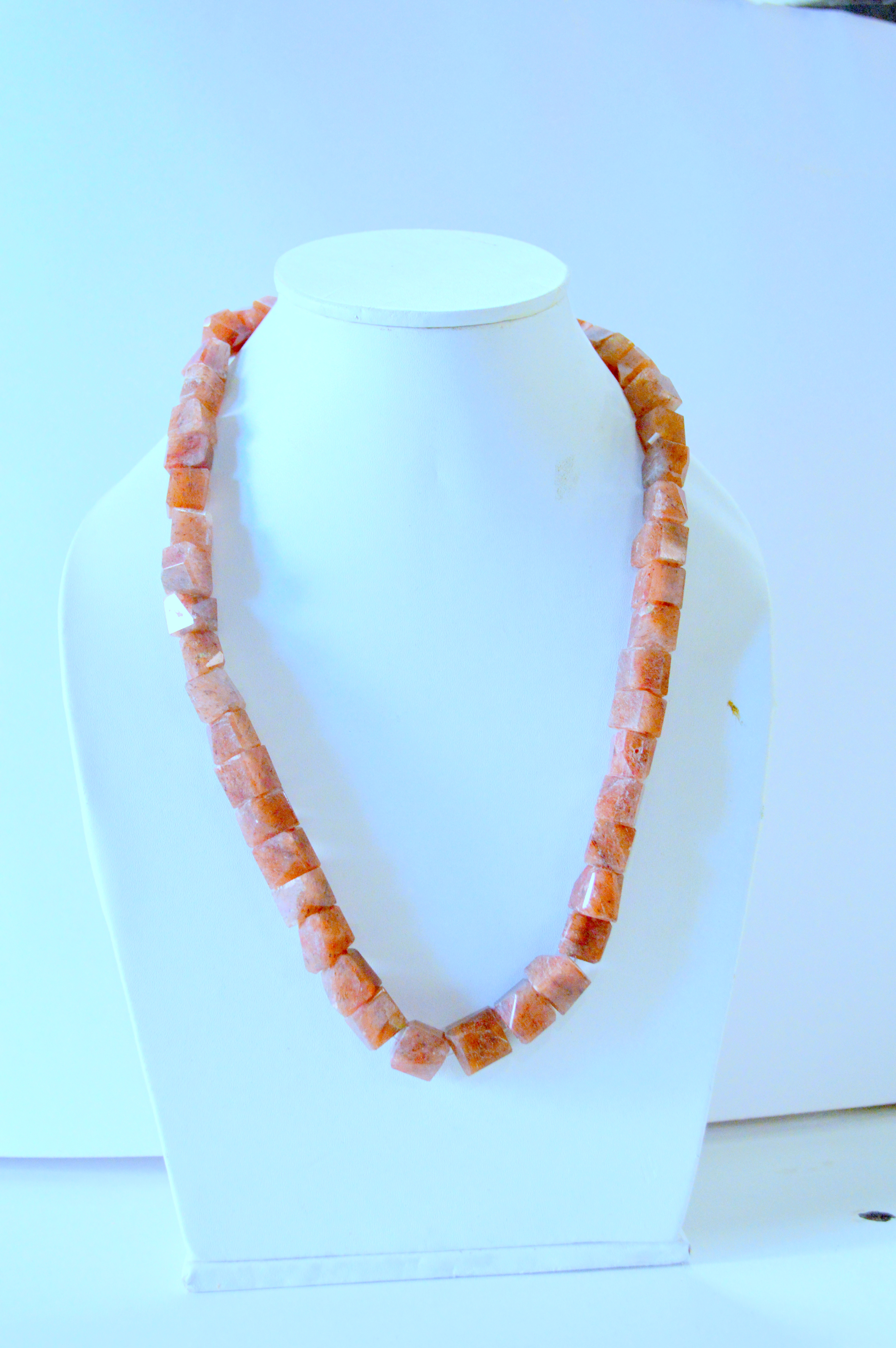 Red Onex Moonstone Necklace