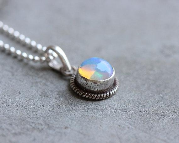 Ethiopian opal pendant - Natural Opal pendant - Gemstone - Artisan pendant