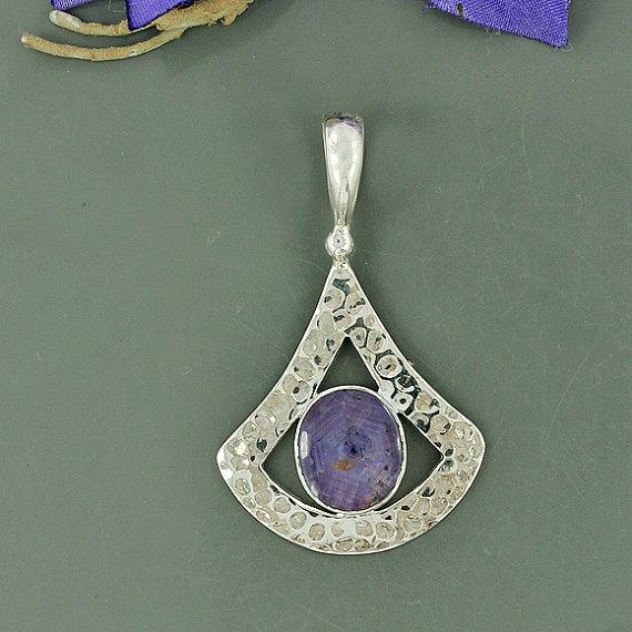 Genuine Star Ruby Pendant, Solid 925 Sterling Silver Pendant, Bezel Handmade Gemstone Pendant, Designer Gift Pendant Jewelry