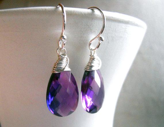 Kunzite Quartz Spiral Wrap Earrings, Gemstone Earrings, Sparkly Earrings, Dangle, drop, Gift Idea, sterling, rose gold