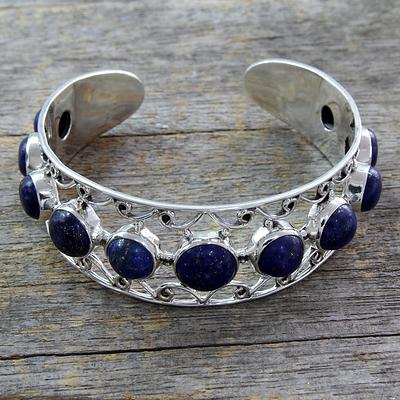 Lapis Lazuli and Sterling Silver Cuff Bracelet