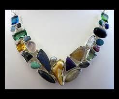 Multi Stone Silver Necklace