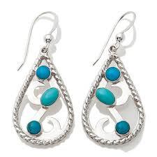 Multi Stone Silver earrings