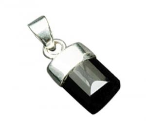 Natural Black Onyx Gemstone Bead pendant