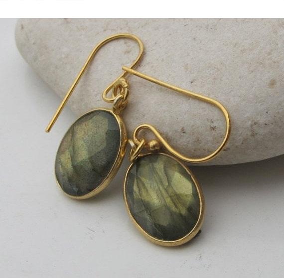 Oval Labradorite Earrings- Bridesmaids Earrings- Silver Labradorite Earrings- Stone Earrings- Gemstone Earrings