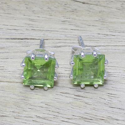 Peridot Earrings Sterling Silver  Jewelry