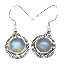 Rainbow Gemstone Silver earrings