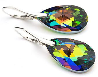 Rainbow Silver earrings