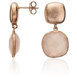 Rose Chalcedony earrings