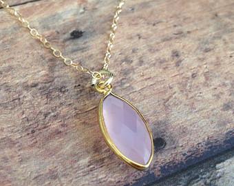 Rose Chalcedony pendant