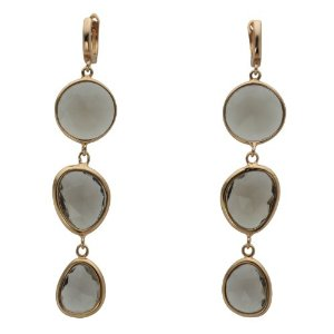 Rose Gold Plated Sterling Silver Bezel Set earrings