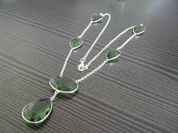 Silver Bezel Necklace Set