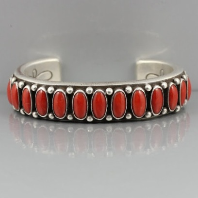 Silver Coral bracelets
