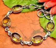 Silver Plated Citrine Bracelet