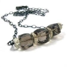 Silver Smoky Necklace