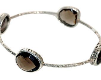 Silver Smoky bracelets