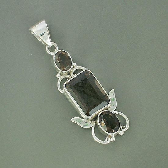 Smoky Quartz Gemstone Pendant, 925 Sterling Silver Jewelry, Bezel Set Handmade Pendant Jewelry, Artisan Handmade Fine Gift Jewelry