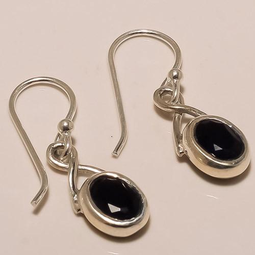 Sterling Silver Black Onyx Earring