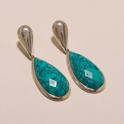 Sterling Silver Jewelry Beautiful Designer Regular Turquoise Earrings