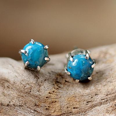 Sterling Silver Turquoise Stud Earrings