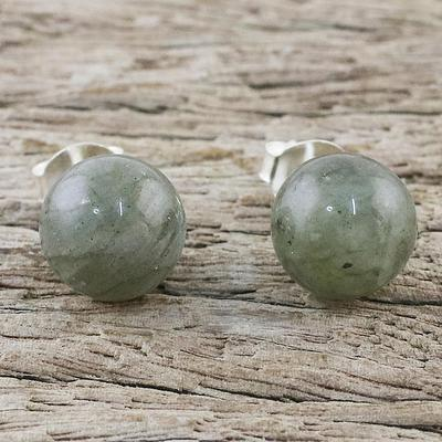 Sterling Silver and Labradorite Stud Earrings