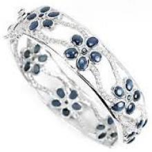 925 sterling silver gemstone handmade bangle