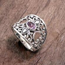 925 Silver Heart Band Ring with  Jewelry