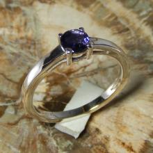 925 Sterling Silver Iolite Gemstone Ring Jewelry