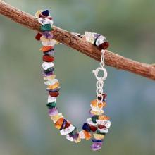Adjustable Beaded Gemstone Chakra Bracelet