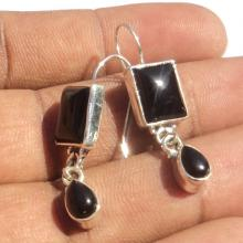 Amazing Black Onyx Gemstone Earrings - Birthstone Earrings - Fashion Earrings - Beach Earrings - Love Gift - Handmade Earrings