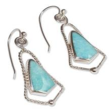 Amazonite dangle earrings, 'Belles'