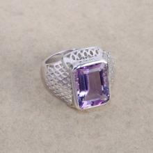 Amethyst 925 sterling silver ring jewelry - Purple gemstone ring - February birthstone ring - Single stone ring - Designer ring