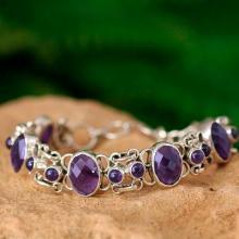 Amethyst Bracelet Handcrafted in Sterling Silver Jewelry