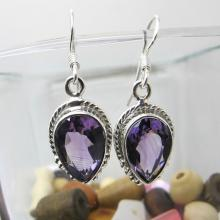 Amethyst Earrings, Sterling Silver Earrings, Gemstone Earrings
