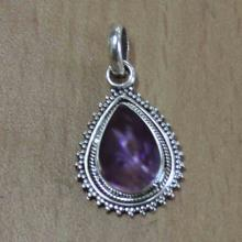 Amethyst Gemstone Silver Pendant & Classic Design Pear Shape Fashion Pendant for Man - Women - Buy Pendant - Drop Pendan