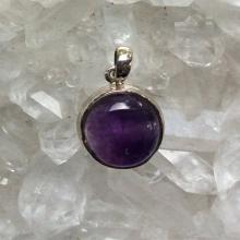 Amethyst Pendant  Amethyst Jewelry Gemstone Pendant  Gemstone Jewelry February Birthstone  February Birthday Gif