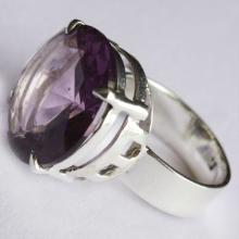 Amethyst Quartz Ring Handmade Gemstone Jewelry With Sterling Silver.