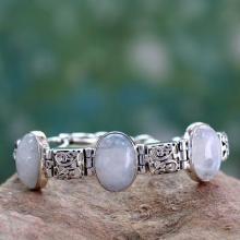Artisan Crafted Moonstone Sterling Silver Bracelet