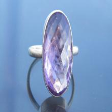 Awesome Purple Amethyst Gemstone Ring, 925 Sterling Silver Jewelry